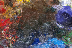 Colorful Oil Painted with Texture On Canvas stock photography