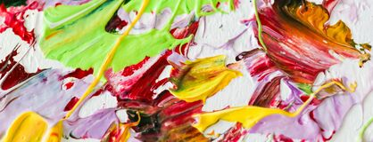 Colorful Oil Painting on canvas. Abstract art background. Fragment of Modern artwork. Brush Strokes of paint