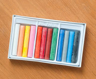 Colorful oil pastels Royalty Free Stock Photo
