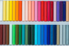 Colorful oil pastels in a box Stock Photography