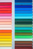 Colorful oil pastels in a box Royalty Free Stock Photo