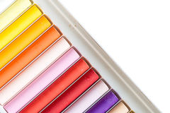 Colorful oil pastels Royalty Free Stock Photos