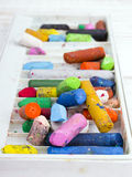 colorful oil pastels crayons Royalty Free Stock Photos