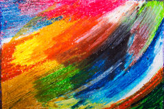 Colorful oil pastels drawing texture Stock Photography