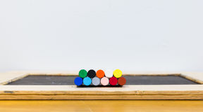 Colorful oil pastels Stock Photography
