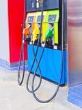 Colorful oil pump nozzles Stock Image