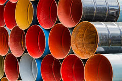 Colorful oil tank background. Royalty Free Stock Image