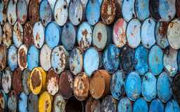 Colorful oil tanks Stock Image