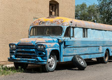 Colorful old abandoned bus Royalty Free Stock Images