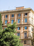 Colorful Old Apartment Building in Rome Royalty Free Stock Photos