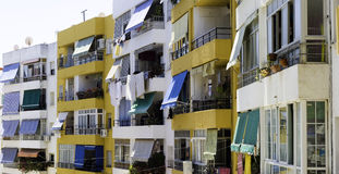 Colorful old apartments Royalty Free Stock Photography