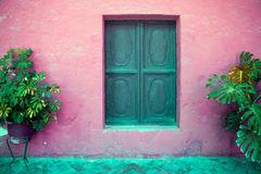 Colorful old architecture details, Cuzco, Peru. Stock Photography