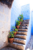 Colorful old architecture details, Cuzco, Peru. Royalty Free Stock Image