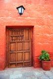 Colorful old architecture details, Cuzco, Peru. Stock Image