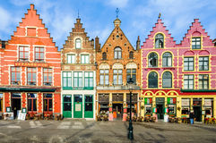 Colorful old brick houses in Bruges, Belgium Stock Images