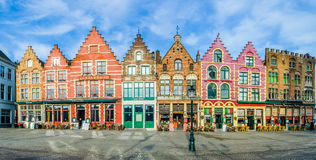 Colorful old brick houses in Bruges, Belgium Royalty Free Stock Photography