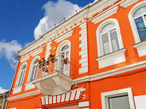 Colorful old building. Old building painted in vibrant colors in downtown Cluj-Napoca, Romania royalty free stock photo