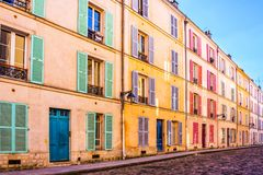 Colorful old building in Paris France. Colorful old building in Paris, France royalty free stock photo