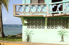 Colorful old Caribbean architecture Nicaragua Royalty Free Stock Photography