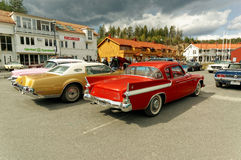 Colorful old cars Stock Image