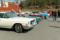Colorful old cars Royalty Free Stock Images