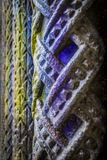 Colorful old column closeup, St. Stephen`s Cathedral, Vienna, Austria. Royalty Free Stock Photos