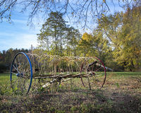 Colorful Old Farm Rake Royalty Free Stock Photography