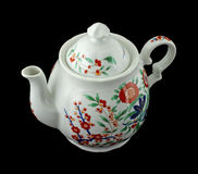 Colorful old floral design teapot Royalty Free Stock Image
