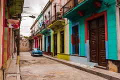 Colorful Old Havana Alley stock photography