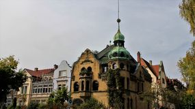 Local And Baroque Style Historic building old and new mixed together Royalty Free Stock Photography