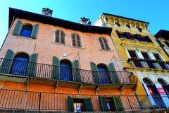 Colorful old houses Verona Italy Stock Photography