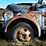 Colorful Old Junked Truck Lomograph Stock Photos