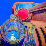 Colorful Old Rusted Car, Palouse Washington Royalty Free Stock Image