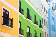 Colorful Old San Juan Puerto Rico Architecture stock photos