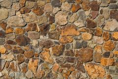 Colorful Old Stone Wall Texture Royalty Free Stock Image