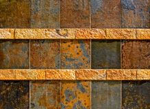 Colorful old stone wall texture Royalty Free Stock Photography