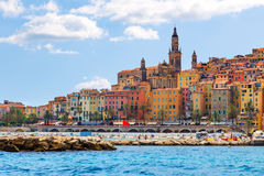 The colorful old town Menton on french Riviera Royalty Free Stock Image