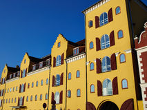Colorful old traditional houses Denmark Stock Images