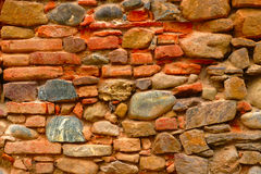 Colorful Old Wall Background Stock Photography