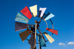 Colorful old windmill Royalty Free Stock Photography