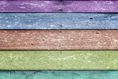 Colorful old wood panels background Stock Image