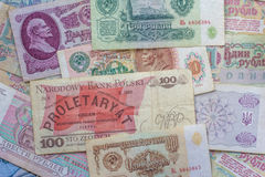 Colorful old World Paper Money Royalty Free Stock Photo