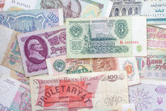 Colorful old World Paper Money Royalty Free Stock Images