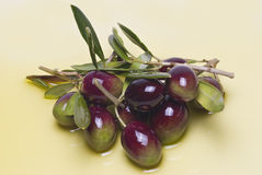 Colorful olives. Royalty Free Stock Image