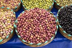 Colorful olives Stock Photo