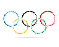 Colorful olympic emblem made with people icon pictograph. Stock Image