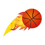 Colorful olympic flame with basketball ball. Illustration Royalty Free Stock Photography