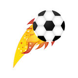 Colorful olympic flame with soccer ball Stock Images