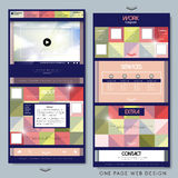 Colorful one page website template design Royalty Free Stock Photo