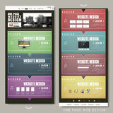 Colorful one page website template design Stock Image
